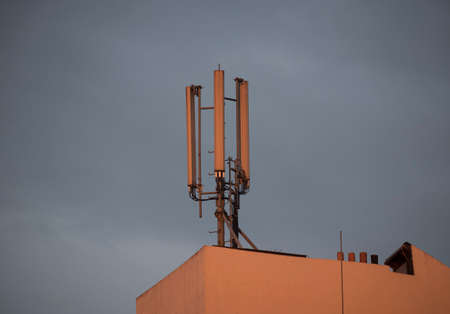 cell tower and antennas in a mobile or cellular network