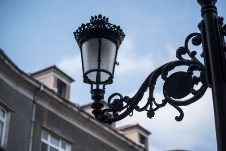 street light in the city, artificial lighting for the night Stock Photo