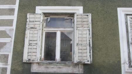 window pane in a building for watching outside and letting in light