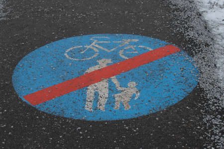 Cycle path for driving with bicycle, environmentally friendly mobility and transportation