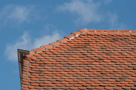 brick roof tiles of a roof a building or house Stockfoto