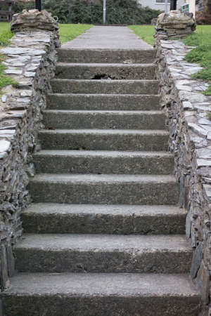 stairs or staircase for walking up and down by foot
