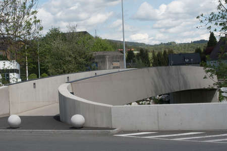 a concrete girder bridge as a structure that crosses natural obstacles for traffic and transport