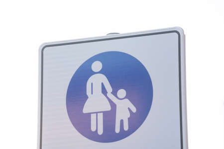 pedestrian traffic sign on the street, safety in road traffic