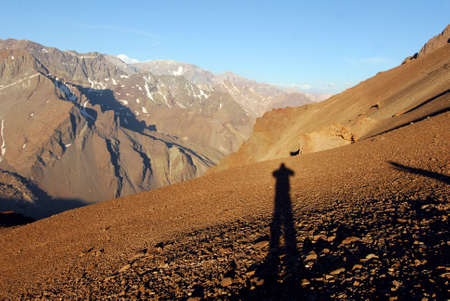 trekking and outdoor sports in the Andes in Patagonia, Argentina