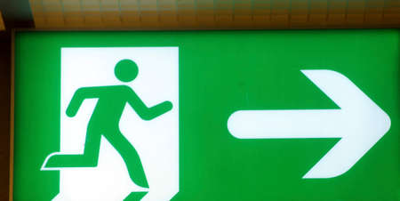 symbol of an emergency exit or escape route in psychology