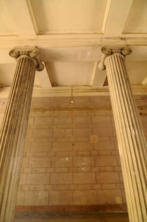 a column, stele or stela for buildings in architecture
