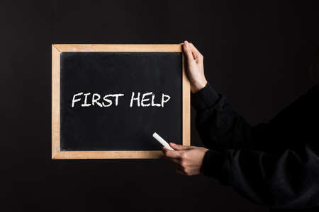 first aid or first help for people in emergency situations