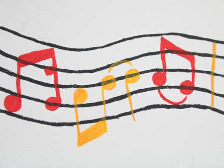 music notes and notation symbol for playing music on an instrument