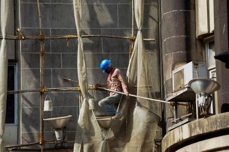 construction works and construction industry for building architecture in india 版權商用圖片