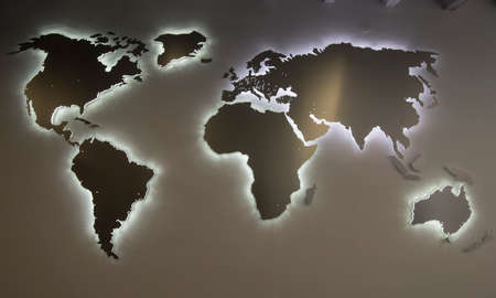 symbol of the planet earth, a globe with the continents