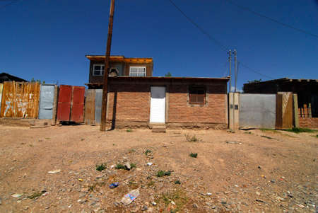slum in a rural area in Argentina with run down infrastructure Stockfoto