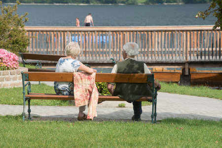 married couple in old age, people in love and together after many years Stock fotó