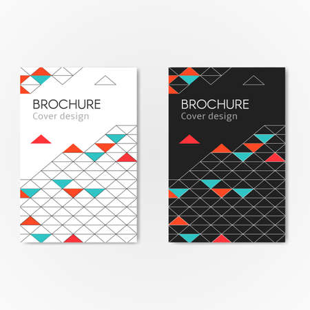 colrful: Modern business brochure abstract geometric background. Colorful geometric triangles, lines and shape. Vector illustration cover template leaflet, flyer