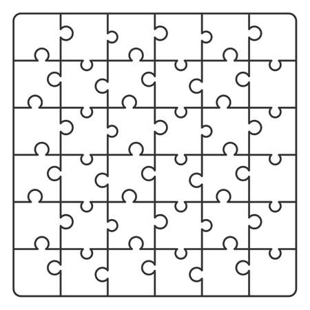 Pattern line Puzzle. Vector illustration for background design