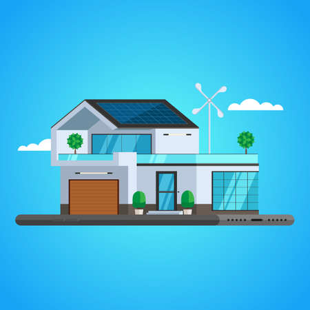 Concept of smart house technology system. Centralized control Smart phone. Vector Illustration trendy flat design for web and printed materials Illustration