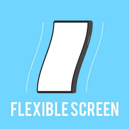 flexible: Flexible smartphone screen. The technology concept a flexible touchscreen. Vector illustration in flat style trend