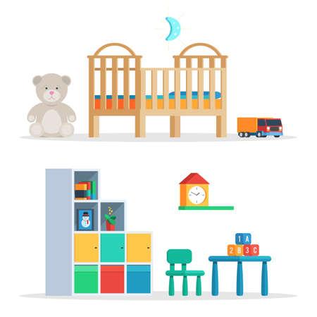 Asombroso Juego De Muebles De Bebé Vivero Componente - Muebles Para ...
