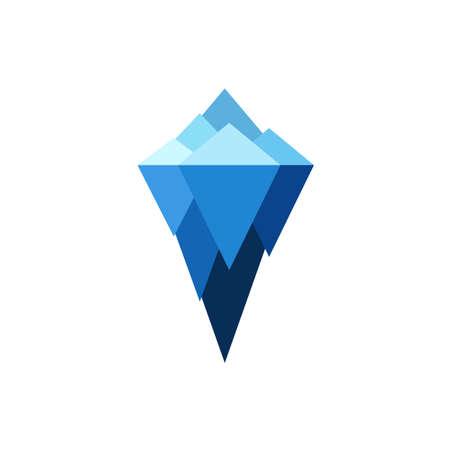 Eisberg Vektor Marke Zeichen. Logo-Darstellung auf weißem Hintergrund zu isolieren