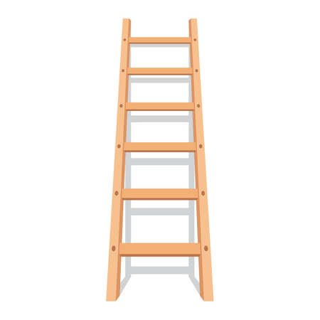 Wooden ladder with shadow Illustration