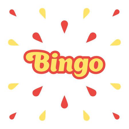 Bingo, congratulation banner
