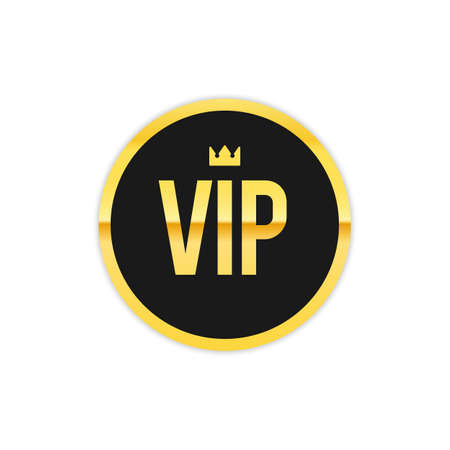 Vip label with crown Vectores