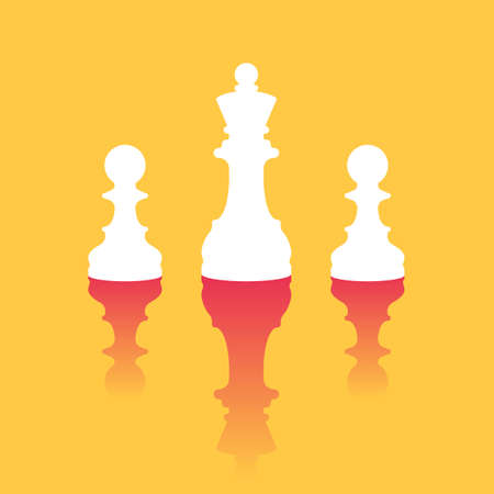 Queen standing out among pawns