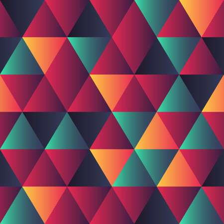 Seamless pattern with colored triangles