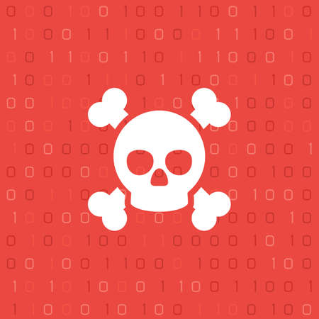 Skull and binary code Illustration