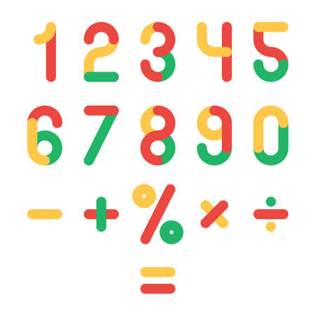Colored numbers set