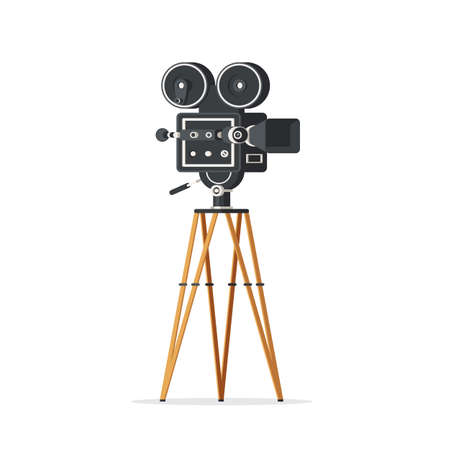 Vintage movie camera Illustration