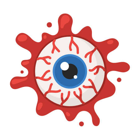 Eyeball in the blood design.