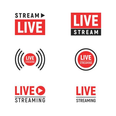 Conjunto de símbolos de transmisión en vivo