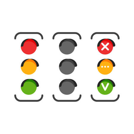 Set of traffic light icons