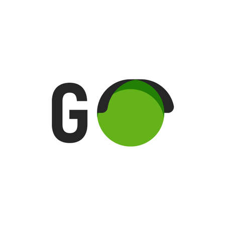Go sign with green signal vector illustration.