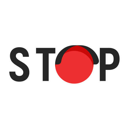 Stop sign with red traffic light