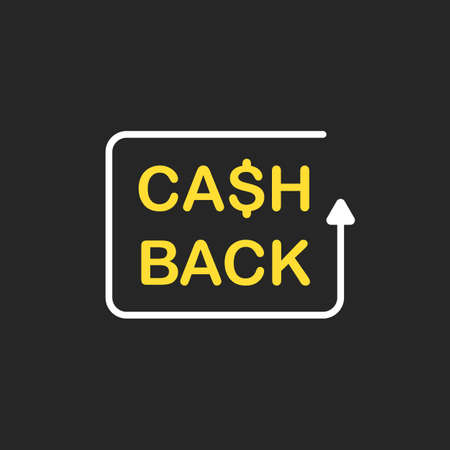 Cash back icon. Financial services concept, money refund. Vector illustration Çizim
