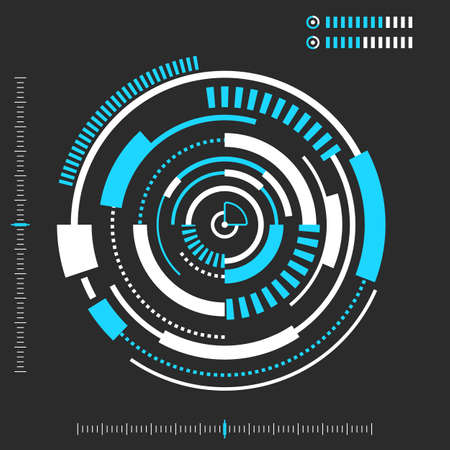 HUD, Technology abstract background. Sci fi futuristic user interface. Vector illustration Stok Fotoğraf - 95258739
