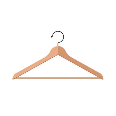 Hanger for clothes symbol. Vector illustration icon in flat style isolated on a white background Stok Fotoğraf - 98904235