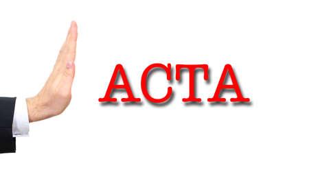 deviate: acta Stock Photo