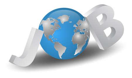job search Stock Vector - 16957175