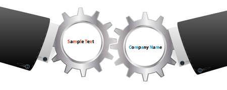 business handshake team Stock Vector - 16957180