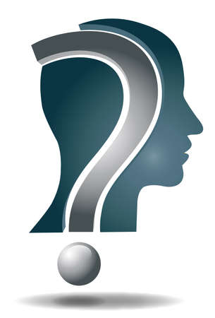 Question head Stock Vector - 17103064