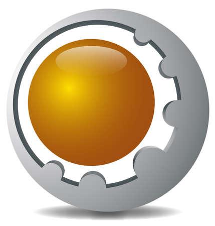 logo ball 3d Stock Vector - 17103063