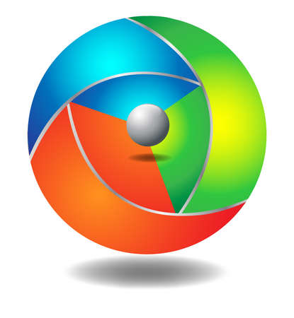 3d ball full color  Vector