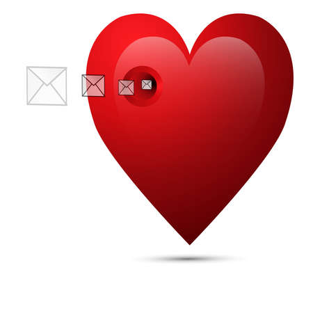 Hearts And Valentins Day,love messages Vector