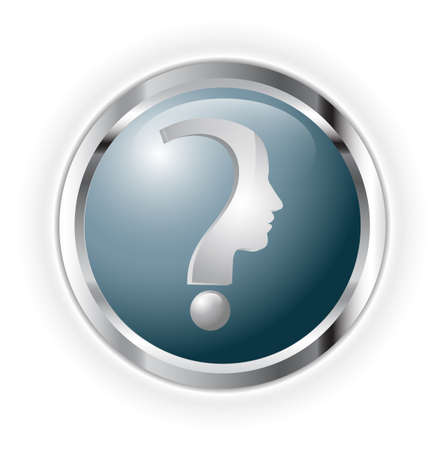 Question head Stock Vector - 17234171