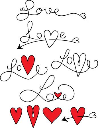 Love & hearts Stock Vector - 6179454