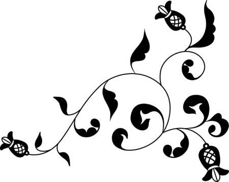 Rustic flower motif