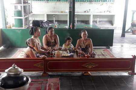 javanese: Javanese tea ceremony at Yogyakarta Sultan Palace, Indonesia